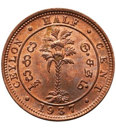 Ceylon 1/2 Cent 1937
