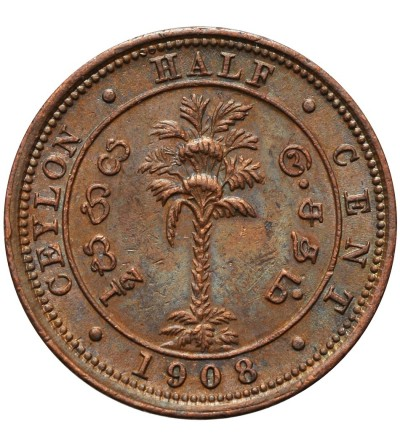Ceylon 1/2 Cent 1908