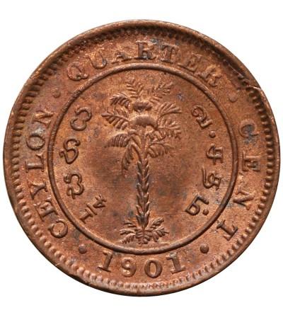 Ceylon 1/4 Cent 1901