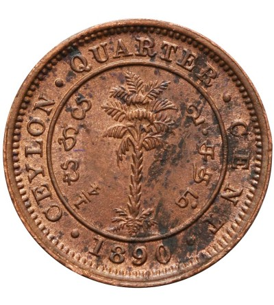 Ceylon 1/4 Cent 1890
