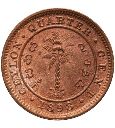 Cejlon 1/4 centa 1898
