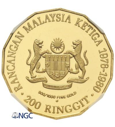 Malezja 200 Ringgit 1976 FM - NGC PF 66 Ultra Cameo