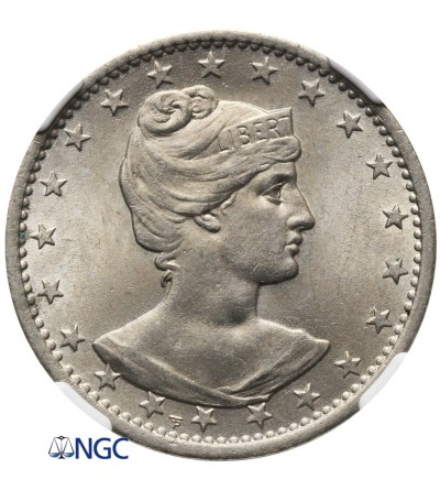 Brazil 400 Reis 1901 - NGC MS 64