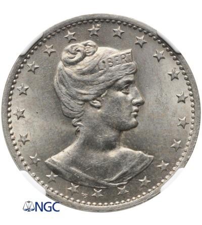 Brazylia 400 Reis 1901 - NGC MS 63
