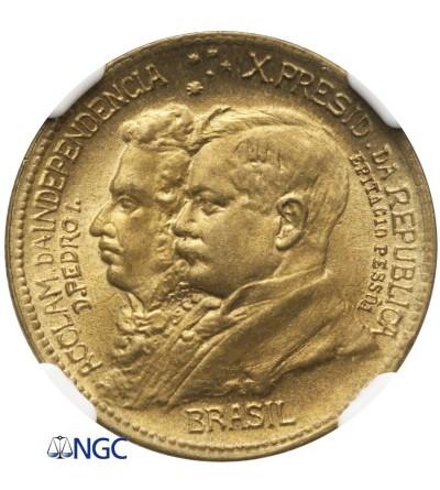 Brazylia 500 Reis 1922 - NGC MS 65