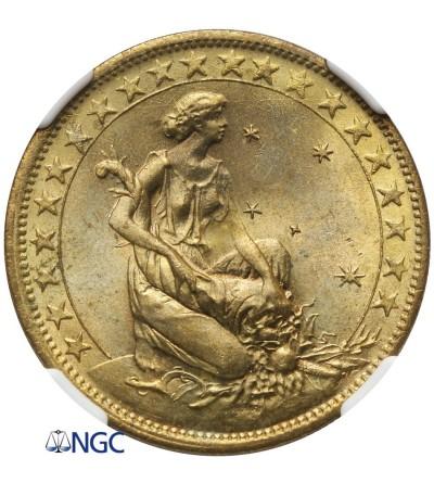 Brazylia 1000 Reis 1927 - NGC MS 65