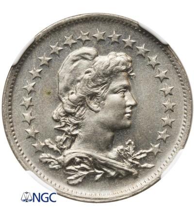 Brazil 200 Reis 1935 - NGC MS 64