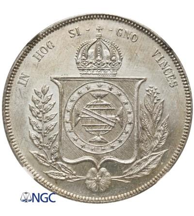 Brazil 1000 Reis 1860 - NGC MS 63