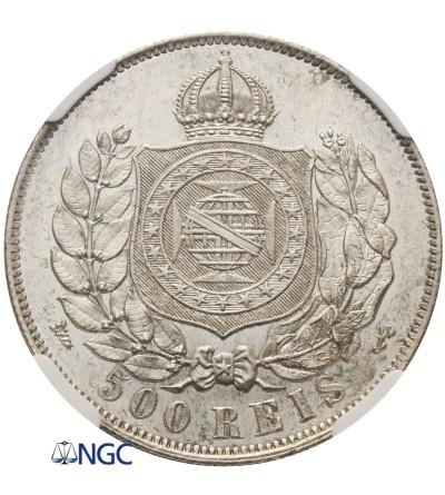 Brazylia 500 Reis 1868 - NGC MS 64
