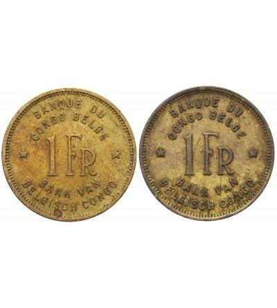 Kongo Belgijskie 1 frank 1944 i 1946