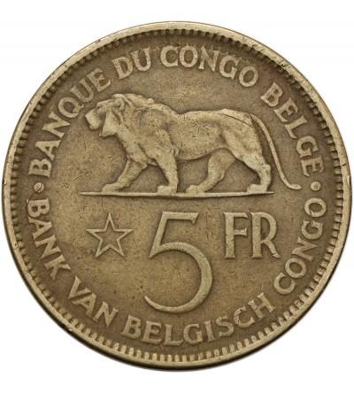 Kongo Belgijskie 5 franków 1936