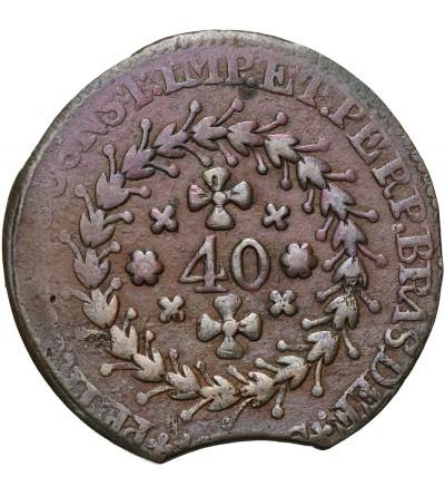 Brazylia 40 Reis 1823-1831 - destrukt menniczy