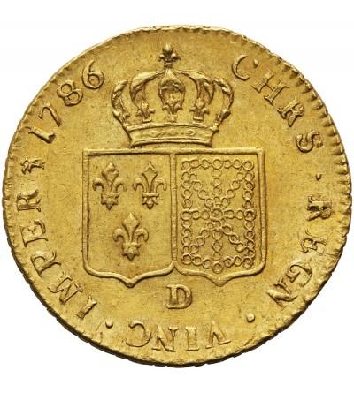 Francja 2 Loius d'or 1786 D, Lyon