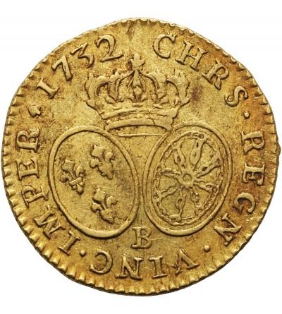 Francja 1 Louis D'or 1732 B, Rouen
