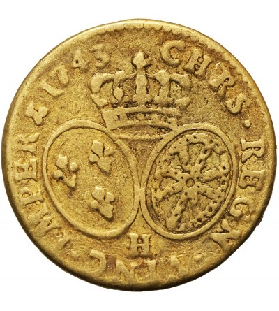 Francja 1 Louis d'or 1743 H, La Rochelle