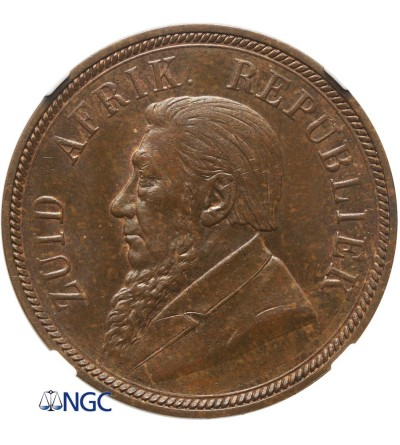 South Africa Penny 1898 - NGC MS 63 BN
