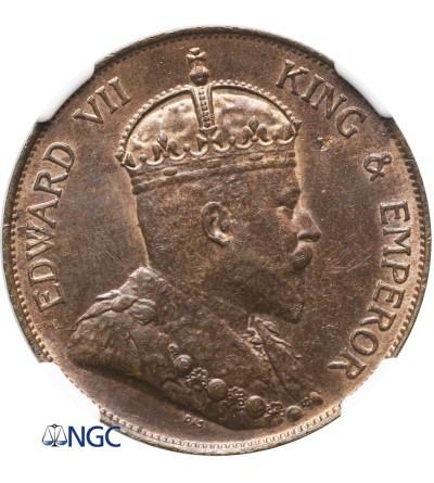 Hong Kong Cent 1905 - NGC MS 62 RB