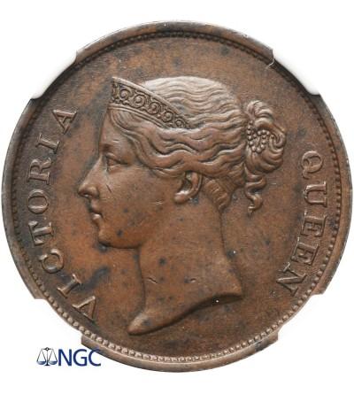 Straits Settlements Cent 1845 - NGC AU 53 BN