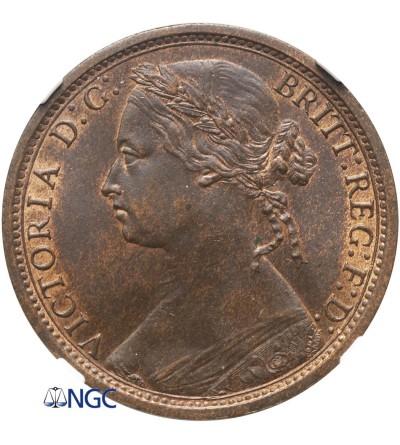 Wielka Brytania 1 Penny 1874 H - NGC MS 62 BN