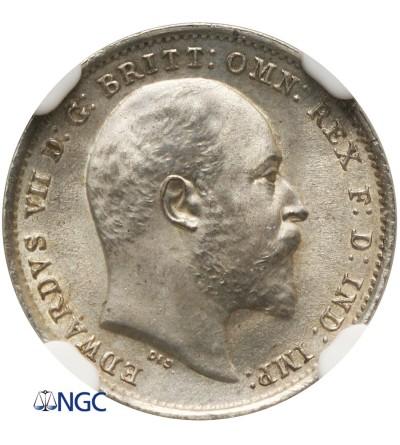 Wielka Brytania 3 pensy 1902 - NGC MS 65