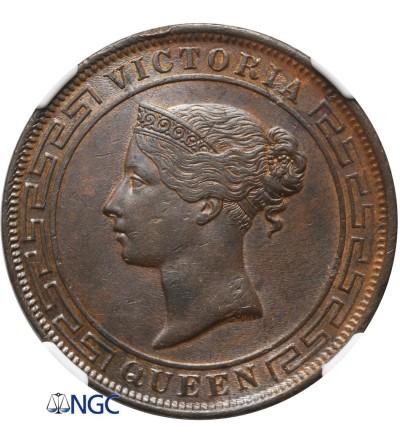 Ceylon 5 Cents 1870 - NGC AU 58 BN