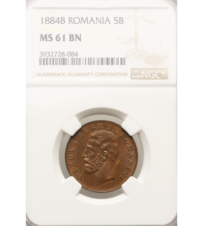 Rumunia 5 Bani 1882 B - NGC 61 BN