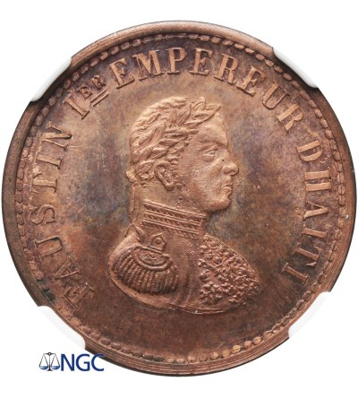 Haiti 10 Cents 1853 - NGC MS 65 RB - Copper Pattern