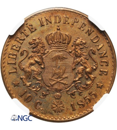 Haiti 10 centów 1855 - NGC PF 66 - próba