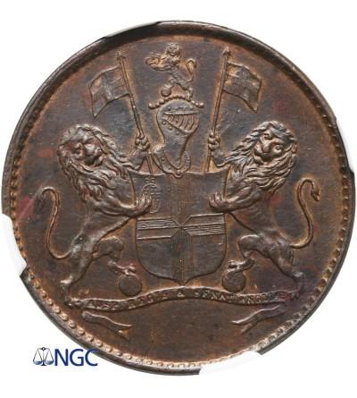 Saint Helena 1/2 Penny 1821 - NGC MS 62 BN