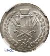 Afganistan 1 rupia AH 1316 / 1898 AD - NGC MS 64