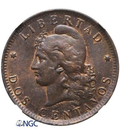 Argentina 2 Centavos 1891 - NGC AU 55 BN