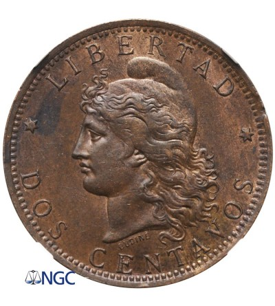 Argentina 2 Centavos 1891 - NGC MS 62 BN