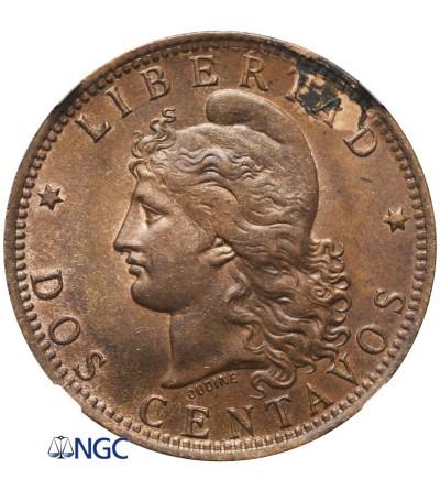 Argentina 2 Centavos 1890 - NGC MS 61 BN