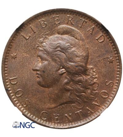 Argentina 2 Centavos 1892 - NGC MS 63 BN