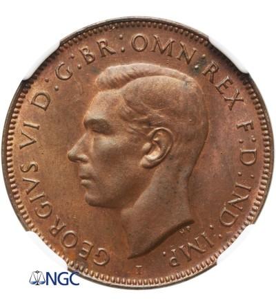 Australia 1/2 Penny 1942 (P) - NGC MS 64 RB