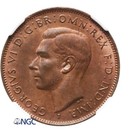 Australia 1/2 Penny 1942 (P) - NGC UNC Details