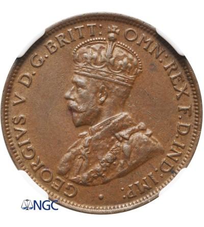 Australia 1/2 Penny 1924 - NGC AU 58 BN