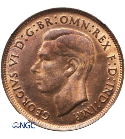Australia 1 Penny 1948 (M) - NGC MS 65 RB
