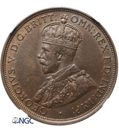 Australia 1 Penny 1911 - NGC AU 58 BN