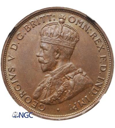 Australia Penny 1911 - NGC MS 62 BN