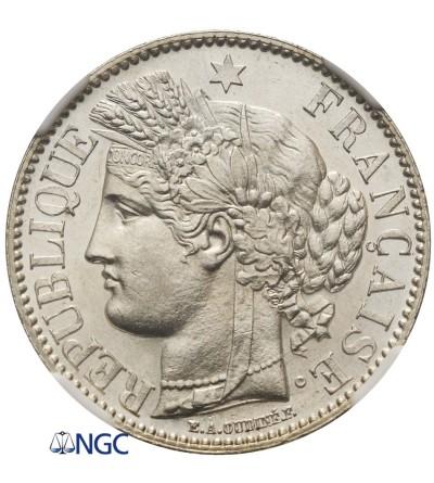 France 2 Francs 1887 A - NGC MS 63