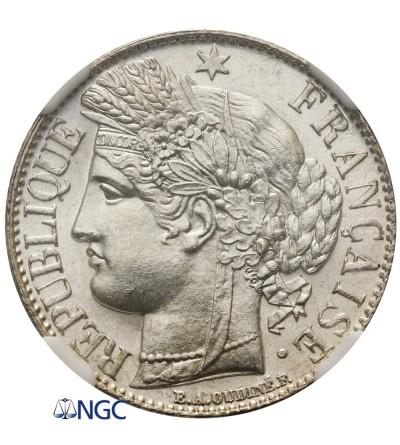 Francja 1 frank 1888 A - NGC MS 65