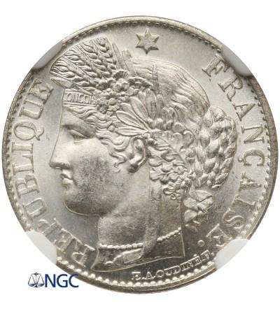 Francja 50 Centimes 1881 A - NGC MS 63+
