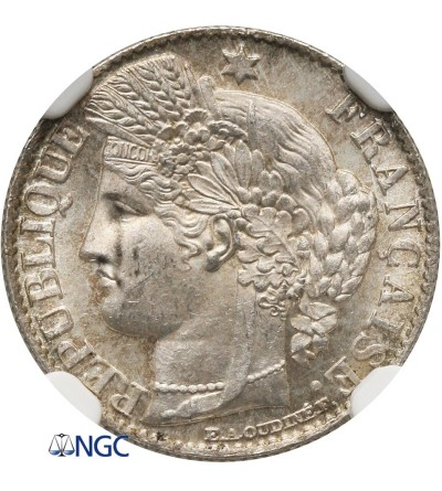 Francja 50 Centimes 1881 A - NGC MS 63