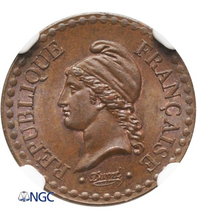 France Centime 1848 A - NGC MS 64 BN