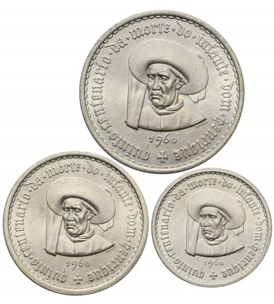 Portugalia 5, 10, 20 escudos 1960 - 3 sztuki