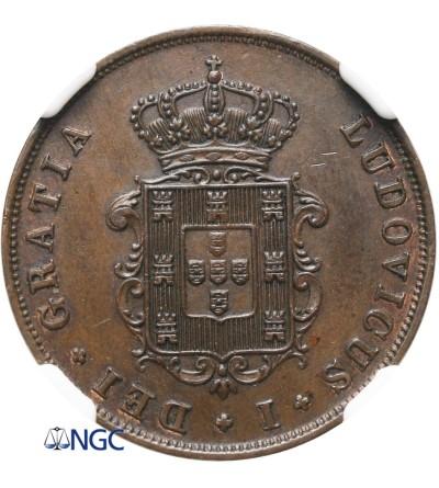 Portugal 3 Reis 1868 - NGC MS 62 BN