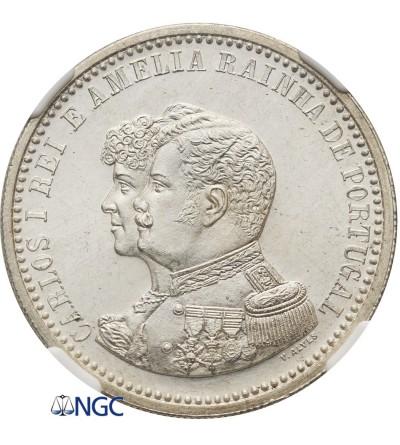 Portugalia 500 Reis 1898 - NGC MS 63