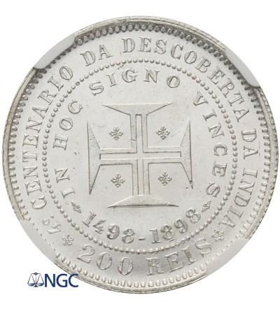 Portugalia 200 Reis 1898 - NGC MS 65