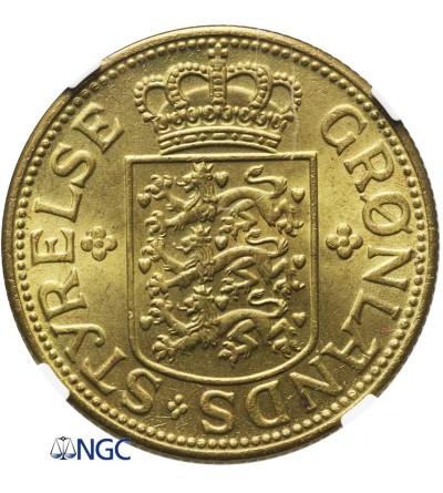 Grenlandia 5 koron 1944 - NGC MS 64